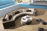 Outdoor Wicker Rattan Patio Garden Sunrise Lounge Set Sofa (J549)