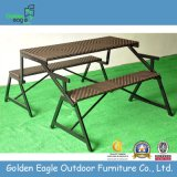 SGS PE Rattan Wicker Outdoor Folded Table Chairs