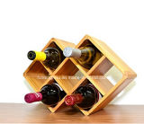 2017 New 8 Bottles Solid Wood Wine Rack for Home Storage