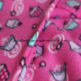 Brush Fleece with Printing Designs