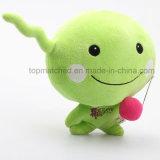 Custom Lovely Plush Green Doll Toy for Promotion Gift