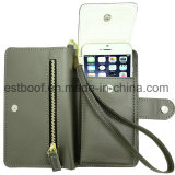 PU Leather Wallet for Mobile Phone