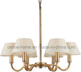 Chandelier Lamp with 6 Fabric Shade for Livingroom (SL2099-6B)