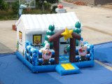 Inflatabe Santa Christmas House for Christmas Festival Decoration