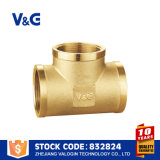 Cast Iron 5k Screw Down Valogin Brass Fitting T-Joint