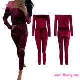 Hollow Design Wine Red Strapless Romper Jumpsuit