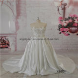 Heavy Beading Sweetheart Satin Bridal Wedding Dress