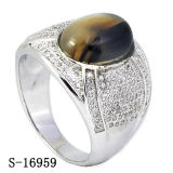 New Designs 925 Silver Fashion Mirco Pave Setting CZ Men Rings