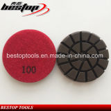3 Inch 80mm Concrete Polishing Pad with Velrco Back