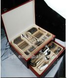 72PCS Stainless Steel Cutlery Set with Elegant Wooden Box Packing