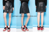 High Quality Ladies Clothes Slim Retro A-Line PU Skirt