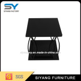 Marble Top Stainless Steel Base Wire Side End Table