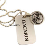 Dog Tag with Ball Chain with Nickel Plated