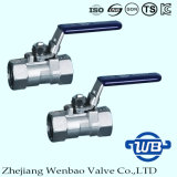 3PC Stainless Steel Female Thread Ball Valve with Lock