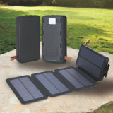 8000mAh 4 Pieces Solar Panels Solar Mobile Power Bank