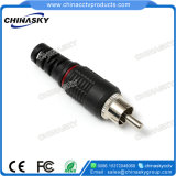 Male Solderless CCTV RCA Connector with Plastic Boot (CT5028)