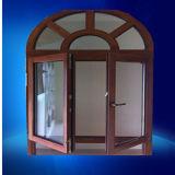Wood Skin Printed Aluminum Swing Windowle Insulating Glass Aluminium Swing Window