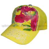Fashion Rhinestone Screen Print Embroidery Leasure Mesh Trucker Hat (TRT047)