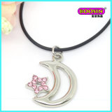 Manufacturer Wholesale Leather Chain Alloy Silver Plate Pendant Necklace