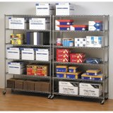 6 Tiers Mobile Metal Shelf for Storage and Office
