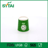 Logo Printed Disposable Green Double Wall Paper Tea Cup