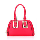 Best Selling Hot Red Color Mini Tote Woman Handbag (MBNO036082)