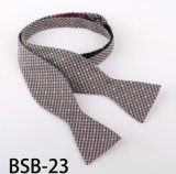 Men′s Fashionable Silk /Polyester Self Bowtie (Bsb-23)