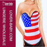 New Arrival American Flag Body Sexy Corset