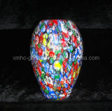 Glass Art Vase for Wedding Decoration (XMHCV-343)