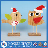 Wooden Bird and Owl Design for Christmas Table Decoration