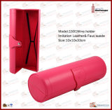 Cylinder PU Leather Single Bottle Champagne Wine Case (1591)