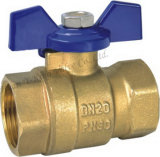 "Brass Lockable Water Ball Valve with Aluminum Handle1/2"" (YD-1029)"