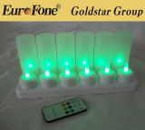 Remote Control Rechargeable 12 LED Candle for Festival