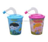 3D Plastic Stadium Tumbler Lenticular Cup with Lid & Straw