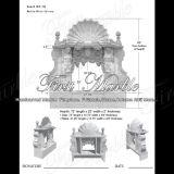 Top Quality White Carrara Fireplace for Home Decoration Mfp-198