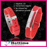 Shiny Crystal Fashion Balance Ion Silicon Bracelet (CP-JS-NW-009)