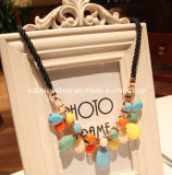 Fashion Diamond Stone Pendant Necklace (XJW12973)
