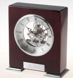 Skeleton Brass Movement Creative Wooden Desk Clock K8012 for Gift Set