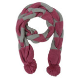 Lady Fashion Acrylic Knitted POM-POM Scarf (YKY4168)