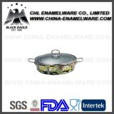 Factory Customized Color Household Enamel Cast Iron Frying Pan