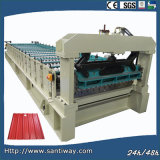CE Certificated Steel Roof Tile Cold Roll Forming Machine