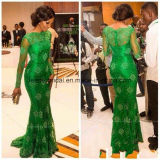 Green Evening Formal Gowns Mermaid Sexy Mother of Bride Dresses Z3040