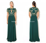 Side Split Applique New Mother of Bride Evening Dresses Z7026