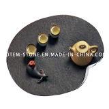 Chinese Design Modern Granite Stone Tea Tray Set for Sale
