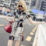 Fashion Girl′s Dress Slim Design Was Made of High Quality Silk