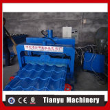 Practical 828 Circular Arc Metal Roof Glazed Tile Roll Forming Machine for Business
