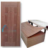 Natural Sapelli 9 Panel Plywood Door Skin with Laminate