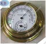 Dial Thermo-Hygrometer, Brass Case Dia. 95mm