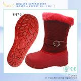 Red MID-Calf EVA Women Winter Snow Boot with Fur