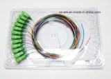 Sc/APC 12 Color Fiber Pigtail Optical Fiber